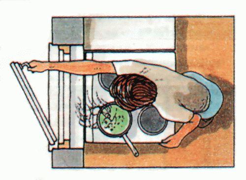 Опасное расположение плит