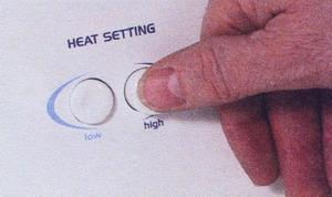 Проверьте установку температуры