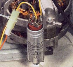 Разрядите конденсатор
