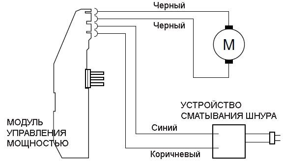 Электрическая схемав пылесоса