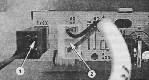 Подключение соединителей сенсоров к дисплею ЕР4