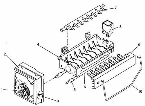 Элементы конструкции генератора льда
