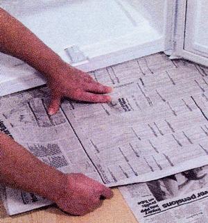 Закройте пол газетами