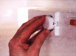 Установите регулятор температуры в правильное положение