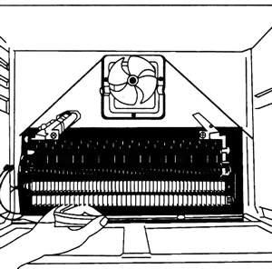 Демонтаж нагревательного элемента