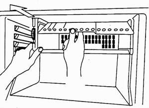 демонтаж крышки отделения для быстрого замораживания
