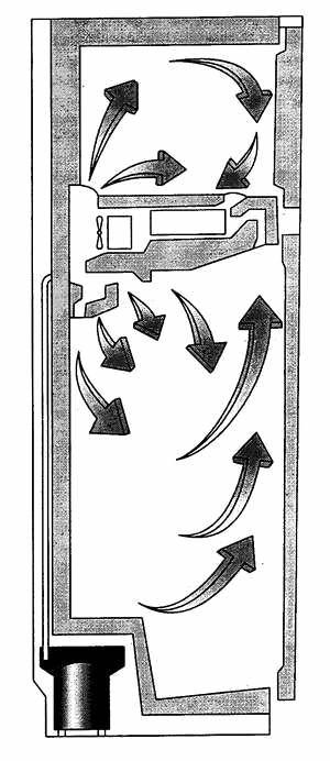 Система No Frost двухкамерного холодильника