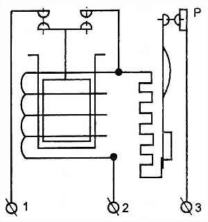 Схема пускозащитных реле РПЗ и LS-08B