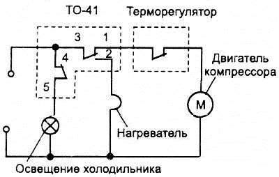 Схема включения прибора ТО-41