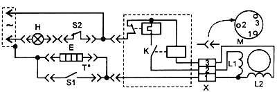 Холодильник Зил-64 КШ-260П (электрическая схема)
