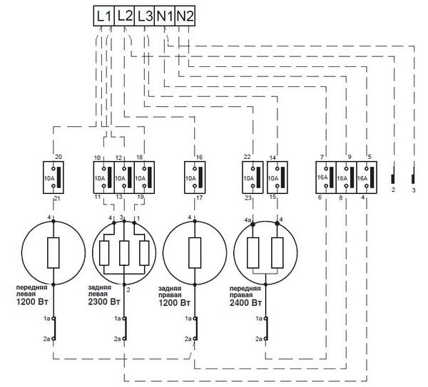 Электрическая схема варочных