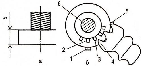 установка зацепления конических шестерен