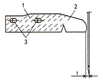 Нитенаправительная пластина корпуса хода челнока