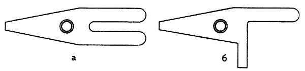 Типы пластинчатых пружин на шпульных колпачках: