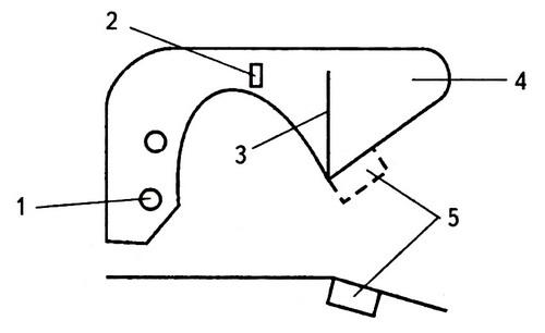 Фиксаторная пружинная пластина защелки