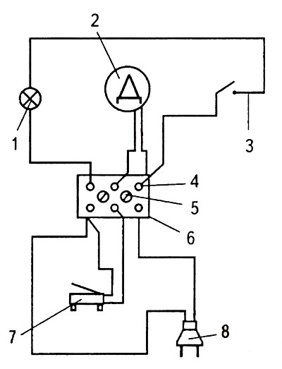 схема электрическая педали швейной машины