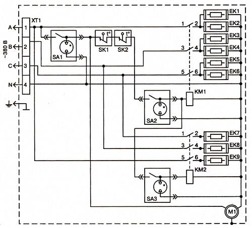 Схема калорифера КЭВ12-76