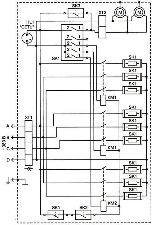 Схема калорифера КЭВ42