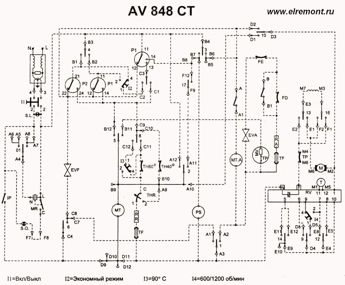ariston 1047 схема