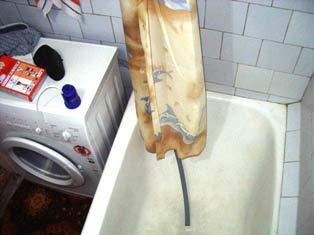 Вариант слива в ванну