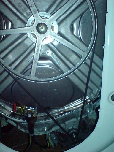 Стиральная машина со снятой