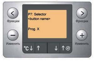 Индикация при тесте программ и кнопок