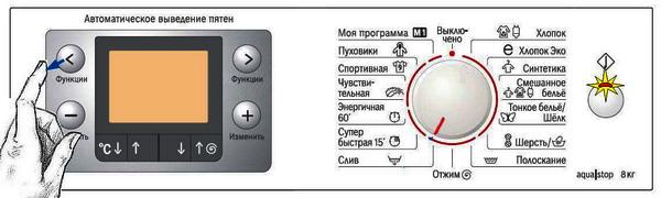 Уберите палец с кнопки «<»
