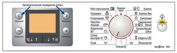 Выберите тест программу при помощи кнопок «<» и «>»