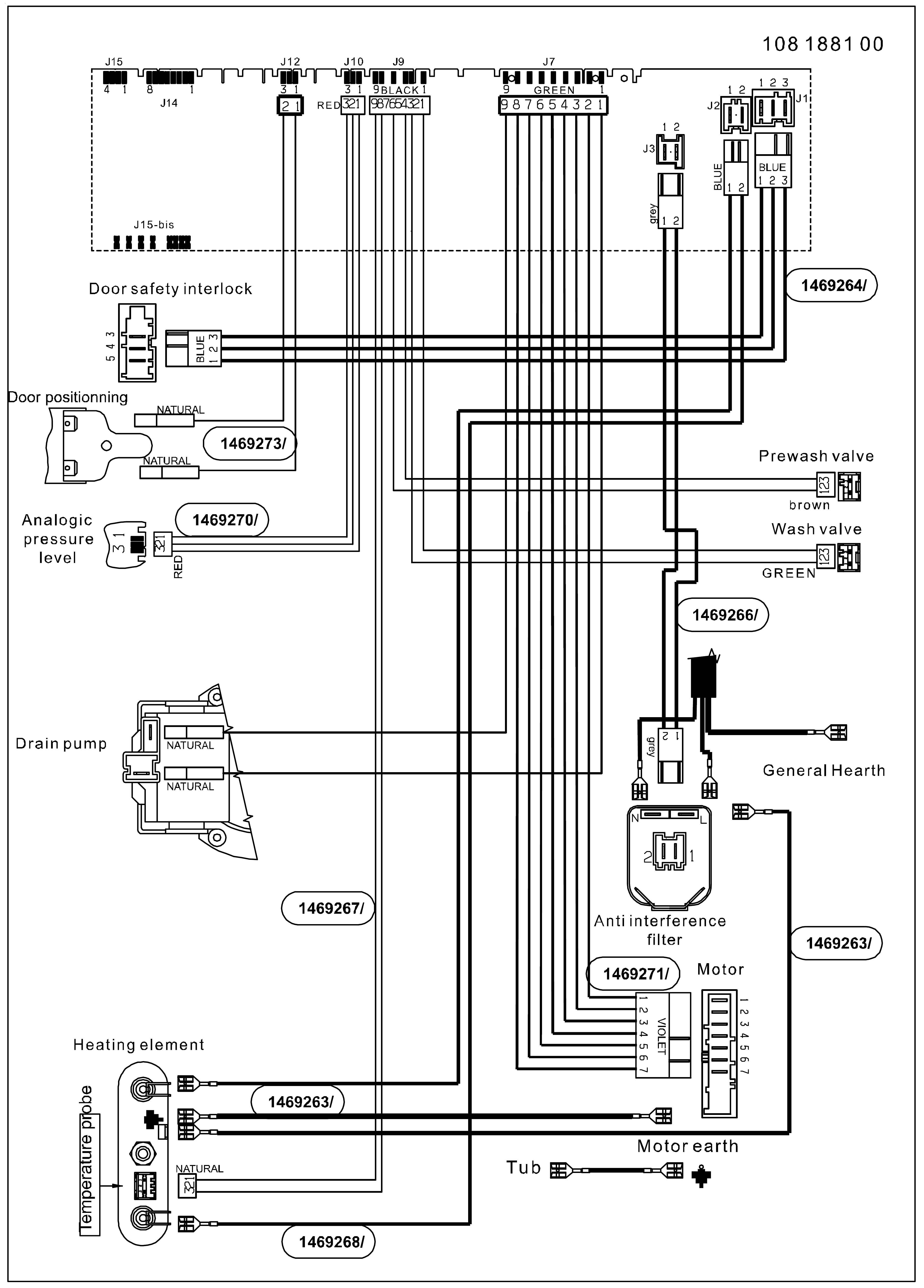 принципиальная электрическая схема Candy LBCG644T