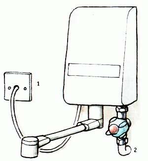 Подсоединение 3-киловаттного водонагревателя