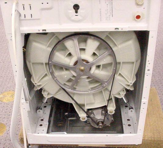 доступ к приводному двигателю и задней части барабана