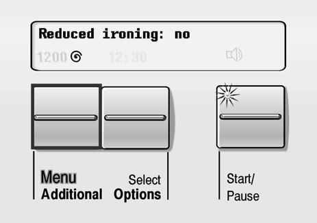 для выключения режима «Reduced Ironing»