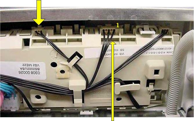 Измерения сопротивления на модуле управления стиральной машины WFR 2460