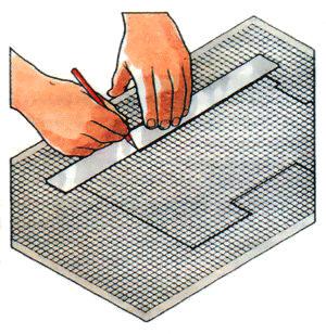 Нанесите полученный в результате измерений план на миллиметровку.
