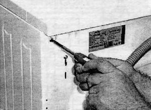 Удаление крепежных винтов верхней крышки