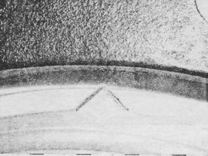 Расположение маркеров при монтаже уплотнителя дверцы люка