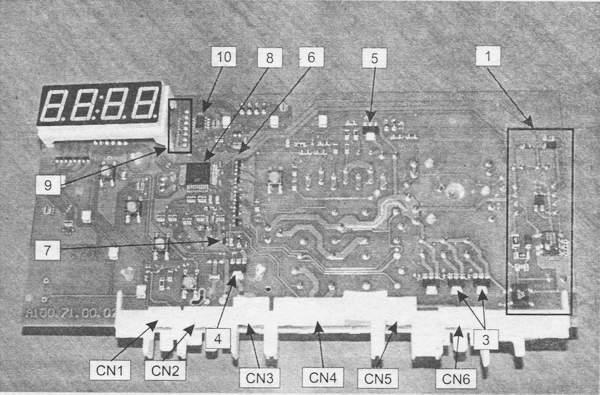 контроллера (вид снизу) СМ