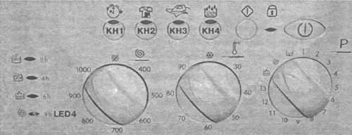 Вариант передней панели СМ EVO-II с индикаторами (линейка AVL)