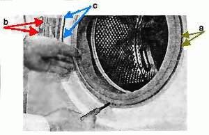 Демонтаж уплотнителя дверцы люка