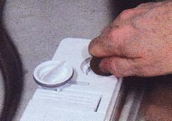 Отрегулируйте дозатор ополаскивателя
