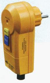 Вилка с защитным отключением УЗО-ДПА-16