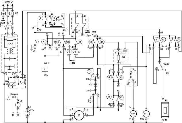 Электрическая схема вятка автомат.