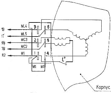 мотор от вятки схема подключения